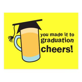¡congratuations que usted graduó! Vidrio de Postal