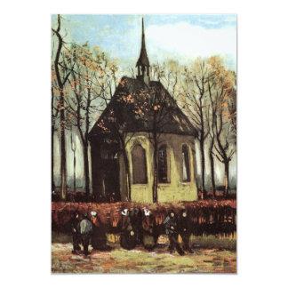 Congregación de Van Gogh que sale de la iglesia Invitación 12,7 X 17,8 Cm
