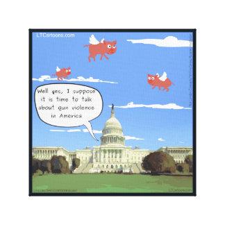 Congreso, violencia armada, y impresión de la lona