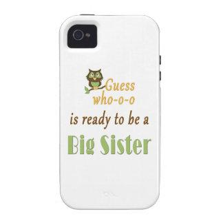 Conjetura que alista el búho de la hermana grande vibe iPhone 4 carcasa