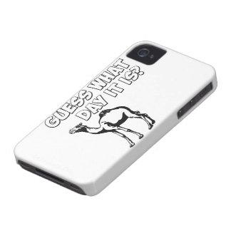 ¿Conjetura qué día es? Camello del día de chepa Case-Mate iPhone 4 Funda