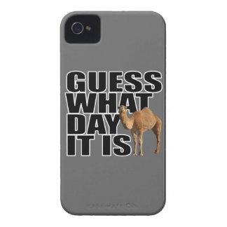 Conjetura qué día es camello del día de chepa iPhone 4 Case-Mate cobertura