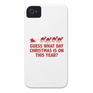¿Conjetura qué navidad del día es en este año? Case-Mate iPhone 4 Carcasas