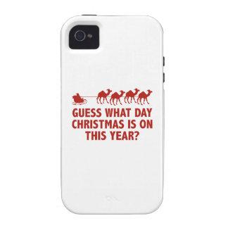 ¿Conjetura qué navidad del día es en este año? Vibe iPhone 4 Fundas