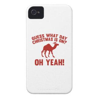 ¿Conjetura qué navidad del día está prendido? ¡Oh  iPhone 4 Protectores