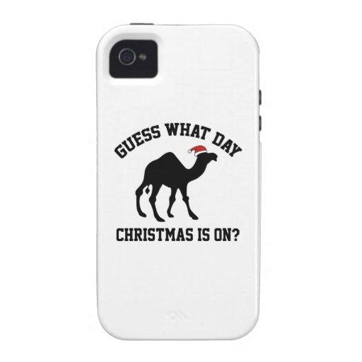 ¿Conjetura qué navidad del día está prendido? ¡Oh  iPhone 4 Carcasas
