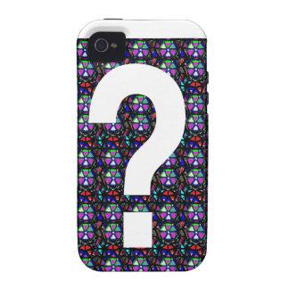 CONJETURE el arte NVN543 del símbolo de la pregunt iPhone 4/4S Carcasa