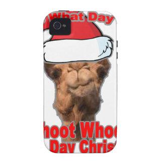 Conjeture qué navidad del día está en esta camiset iPhone 4 carcasa