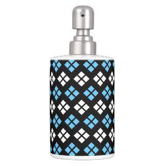 Conjunto De Baño Modelo elegante de Argyle del azul y del blanco de