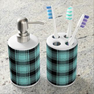 Conjunto De Baño Productos del cuarto de baño de la tela escocesa