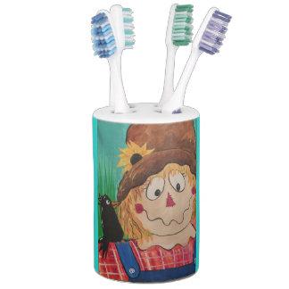 Conjunto De Baño Tenedor del cepillo de dientes del espantapájaros