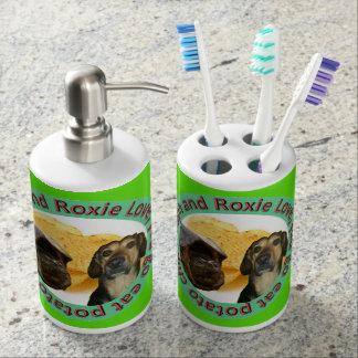 Conjunto De Baño Tenedor y jabón Dispencer del cepillo de dientes