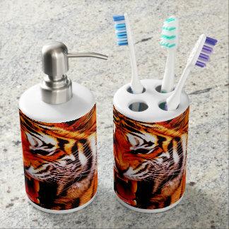 Conjunto De Baño Tigre y llama