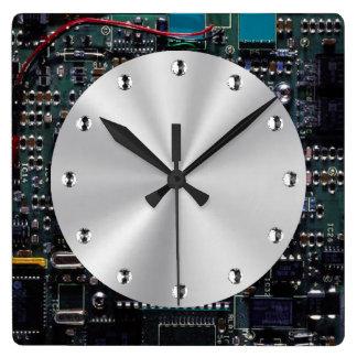 Conjunto de circuitos reloj cuadrado