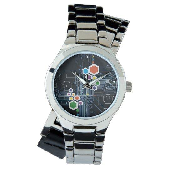 Conjunto de circuitos reloj de pulsera