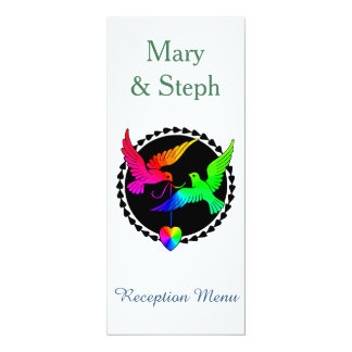 Conjunto de la tarjeta del menú de la recepción de invitación 10,1 x 23,5 cm
