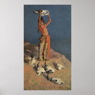 Conjuración detrás del búfalo de Federico Póster