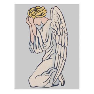 Conmemoración de luto del personalizable del ángel tarjeta postal