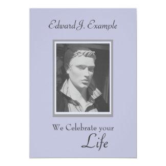 Conmemoración/entierro adaptables de la foto invitación 12,7 x 17,8 cm