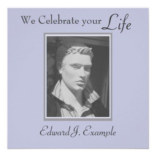 Conmemoración/entierro adaptables de la foto invitaciones personales