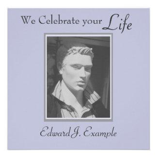 Conmemoración entierro adaptables de la foto invitaciones personales