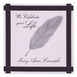 Conmemorativo adaptable estela entierro de vida invitaciones personales