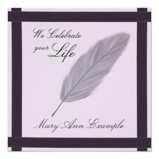 Conmemorativo adaptable/estela/entierro de vida invitación 13,3 cm x 13,3cm