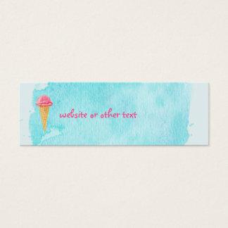Cono de helado con un Web site azul de la Tarjeta De Visita Pequeña