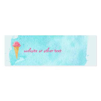 Cono de helado con un Web site azul de la Tarjetas De Visita Mini