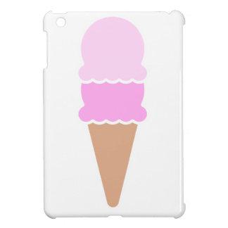 Cono de helado doble de la cucharada - rosas
