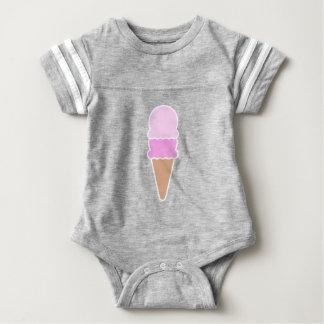 Cono de helado doble de la cucharada - rosas body para bebé