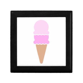 Cono de helado doble de la cucharada - rosas caja de regalo