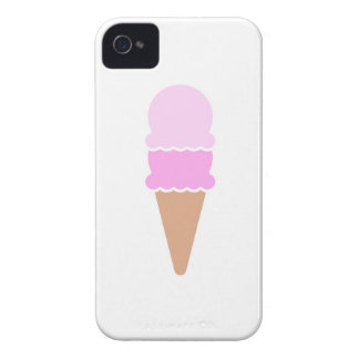 Cono de helado doble de la cucharada - rosas funda para iPhone 4