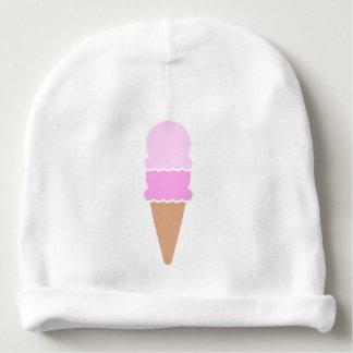 Cono de helado doble de la cucharada - rosas gorrito para bebe