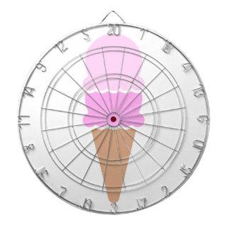 Cono de helado doble de la cucharada - rosas tablero dardos