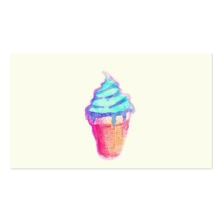 Cono de helado Drippy fresco enrrollado en Tarjetas De Visita