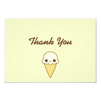 Cono de helado feliz de vainilla de Kawaii Invitación 8,9 X 12,7 Cm