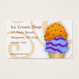 Cono de helado tarjeta de negocios