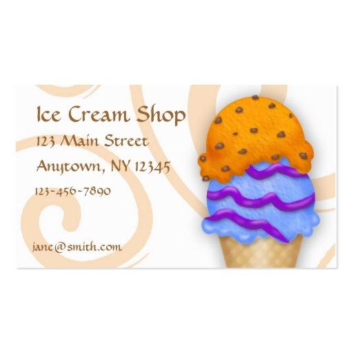 Cono de helado plantillas de tarjeta de negocio