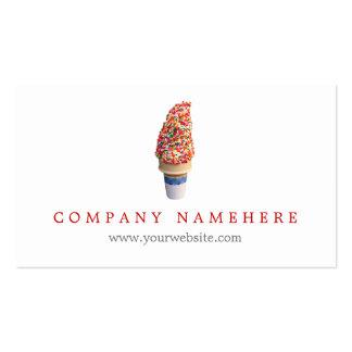 Cono de helado tarjetas de visita