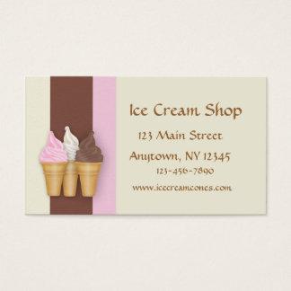 Conos de helado tarjeta de negocios