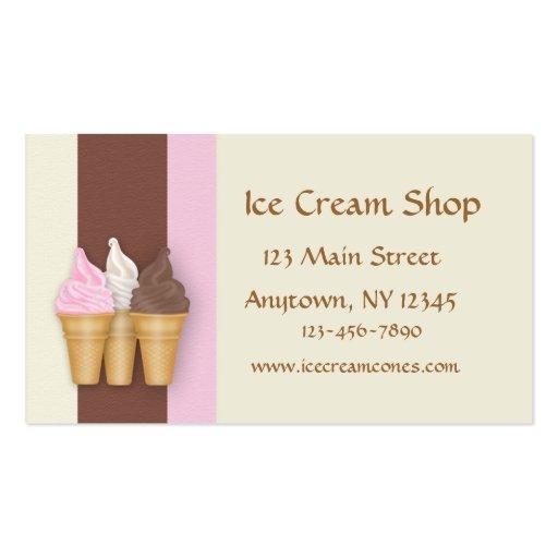 Conos de helado tarjeta de visita