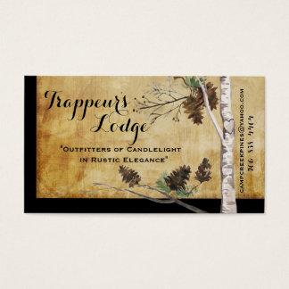 Conos del pino y tarjetas de visita texturizadas
