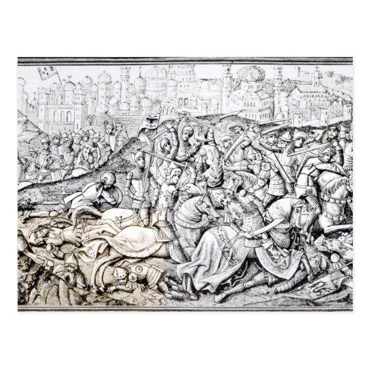 Conquista de Jerusalén de Carlomagno Postal