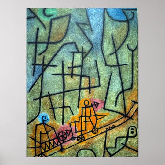 Conquista de Paul Klee de la montaña Póster