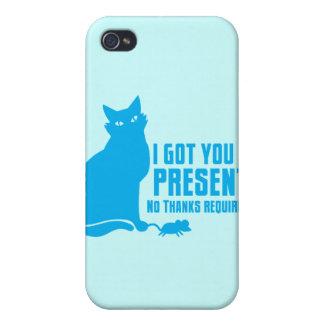 CONSEGUÍ LE UN ACTUAL gato NINGUNAS GRACIAS iPhone 4/4S Carcasa