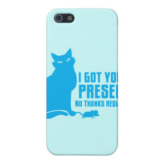 CONSEGUÍ LE UN ACTUAL gato NINGUNAS GRACIAS iPhone 5 Protectores