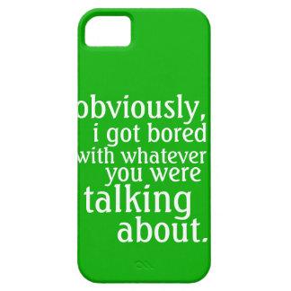Conseguí obviamente aburrido funda para iPhone SE/5/5s
