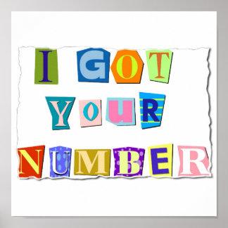 Conseguí su impresión del número impresiones