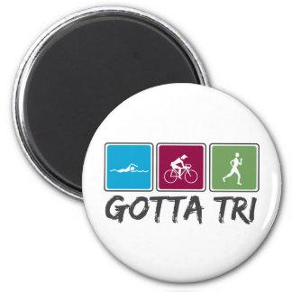 conseguido a tri (Triathlon) Imán Redondo 5 Cm